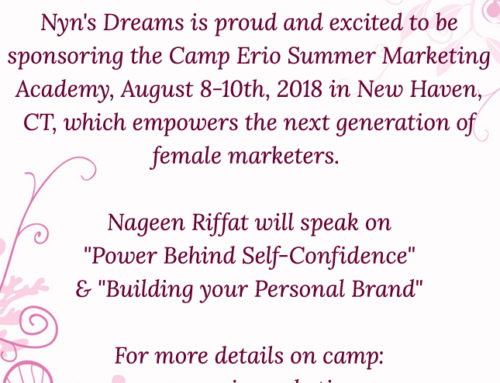 Nyn's Dreams sponsers the 2018 Camp Erio Summer Marketing Academy,